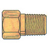 BRASS INVERTED FLARE MALE CONNECTOR 3/16 X 1/8(11186)