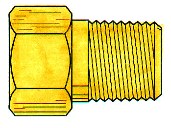 BRASS THREADED SLEEVE MALE CONN. 1/8 X 1/8(11289)