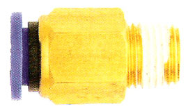 PUSH TO CONNECT NYLON MALE CONNECTOR 1/4 X 1/8 PT(12481)