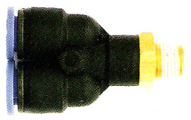 PUSH ON MALE SWIVEL Y CONN 1/4 X 1/4 PT(12513)