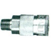 MALE AIR COUPLER 1/4 SERIES BRASS BODY(13379)