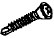 PHILLIPS OVAL DRILL POINT SCREW BLACK 4.2 X 12MM(21869)