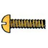 SLOTTED ROUND HEAD MACHINE SCREWS BRASS