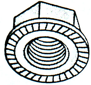 METRIC HEAVY HEX FLANGE NUT