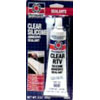 CLEAR SILICONE ADHESIVE SEALANT 3 OZ TUBE(88051)