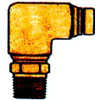 D.O.T. BRASS 90 DEGREE MALE ELBOW 1/4 X 1/8(9408)
